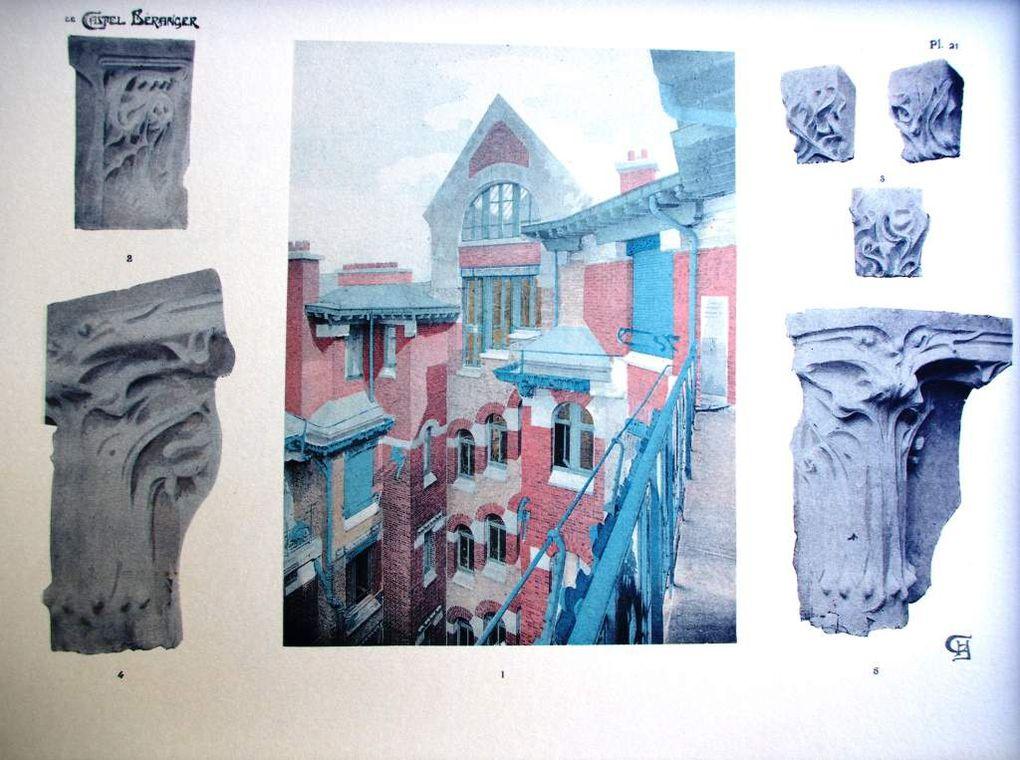 Larchirecte Hector Guimard dans son atelier du Castel Beranger et son catalogue