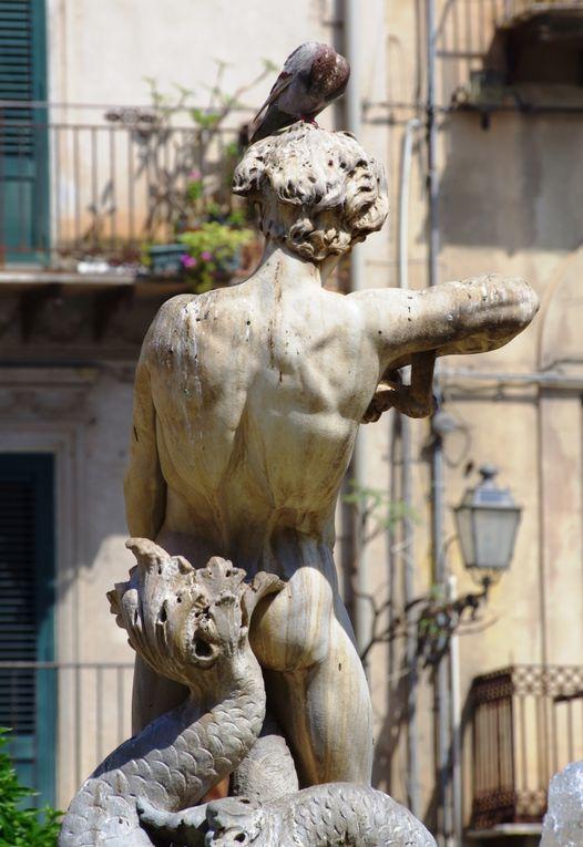 La fontana del Tritone à Monreale, Sicile