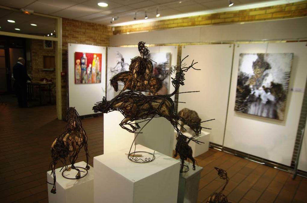 Quelques oeuvres de l'artiste Bruno Lemée exposée au Centre Georges Brassens