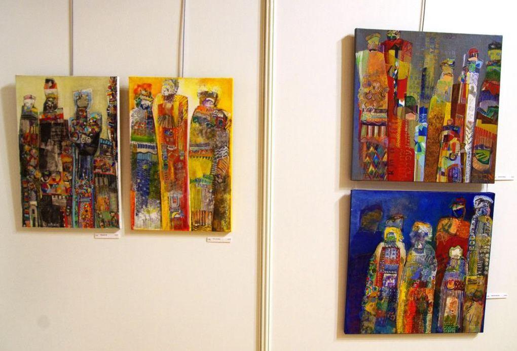 Quelques oeuvres de l'artiste Esti Lévy exposées au Centre Georges Brassens
