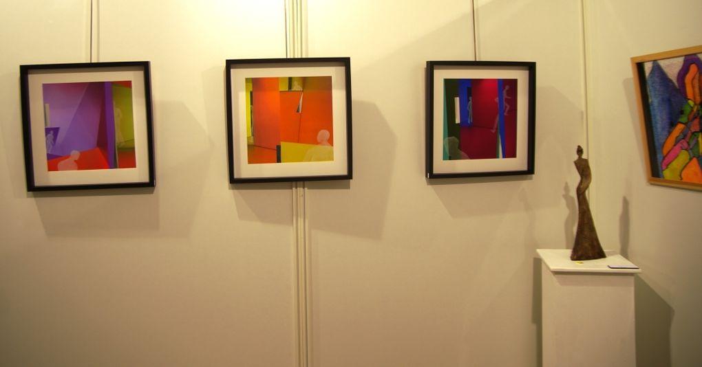 Quelques images des oeuvres des artistes exposants au 16ème Salon de l'association Contrastes