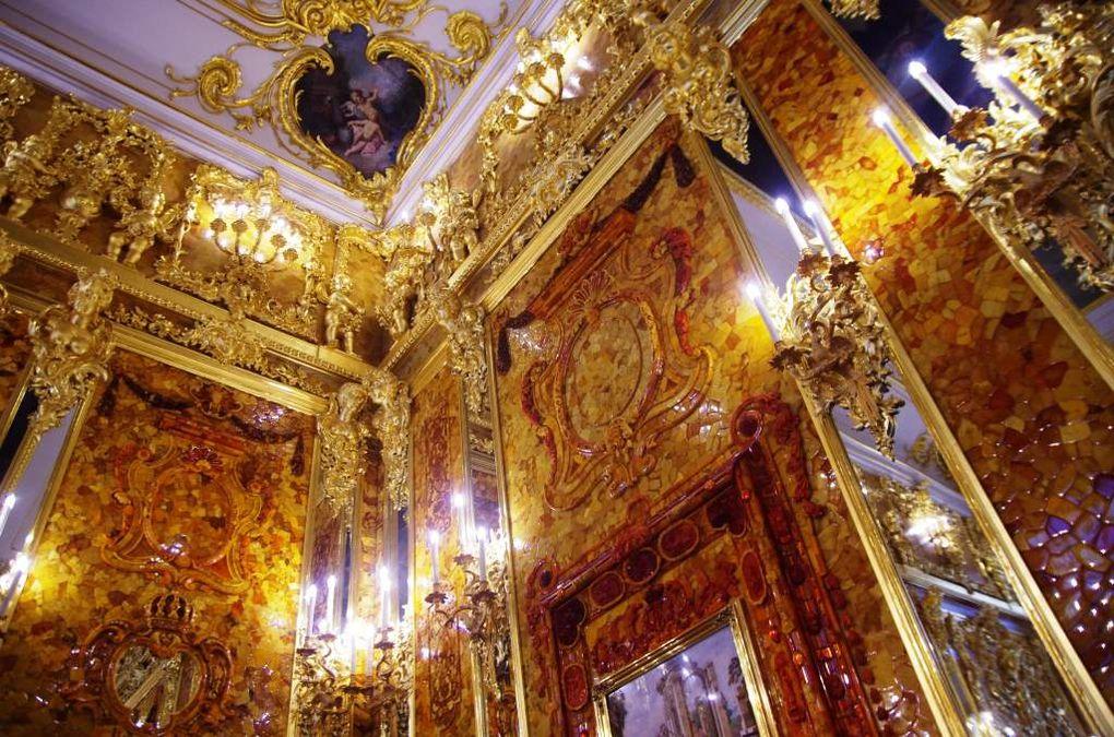 Le salon d'ambre au palais Catherine
