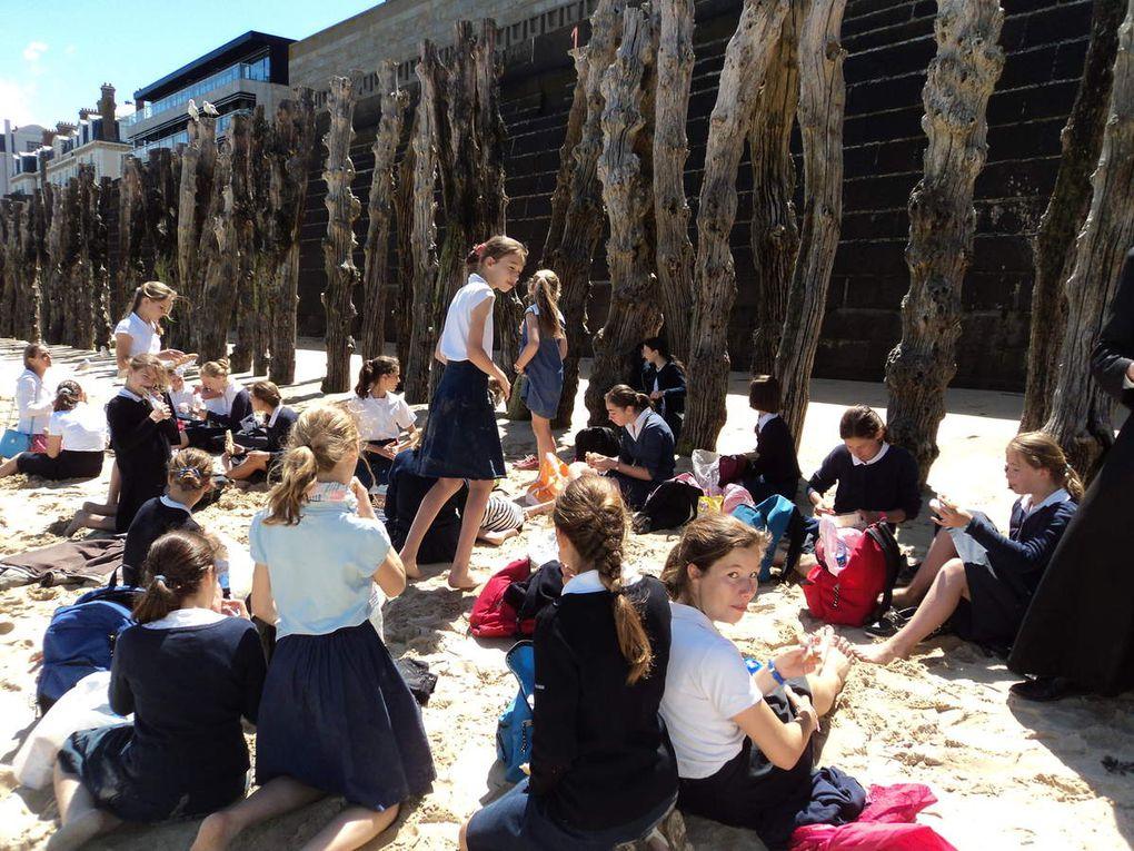 Sortie de classe des collégiens à Saint Malo