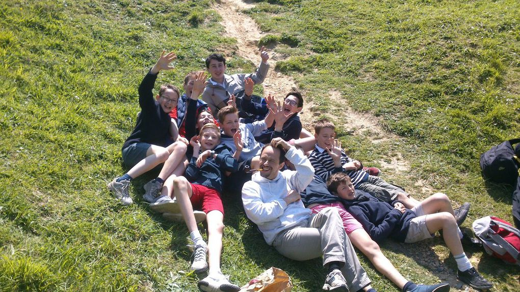 Sortie des collégiens sur les plages de Normandie