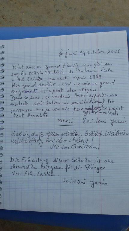 LIVRE D'OR du rassemlement N'Ath Saidha le 14 octobre 2016