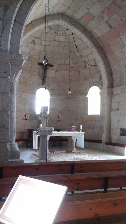 Le  monastère de Santander Magdalénienne et l'auberge attenante, l'intérieur de l'église Santa Mariña e celle d'El Salvador.