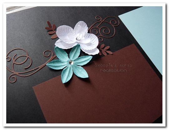 Livre d'or Anaïs &amp&#x3B; Alexis - turquoise &amp&#x3B; chocolat - îles/exotique