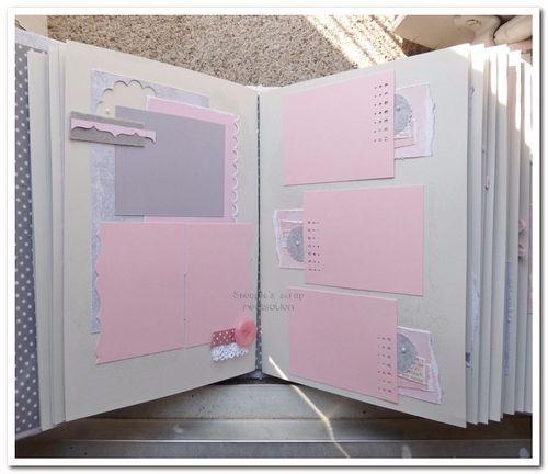 Livre d'or Mélanie &amp&#x3B; Pierre - Vintage romantique - Rose &amp&#x3B; gris