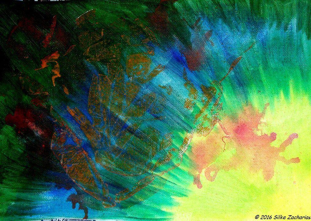 Arcyrlique abstrait: Phoenix