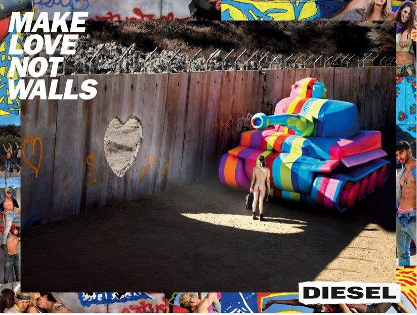 Buzz : Diesel, make love not walls