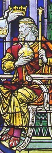 Edgar d'Angleterre dit Le Pacifique ( en couleurs) , Kennett  II d'Ecosse ( noir et blanc)