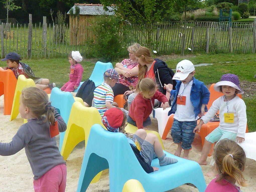 Sortie scolaire des PS aux Jardins de Brocéliande le 5 Juin 2015