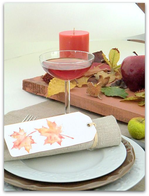 Une petite table de week-end !