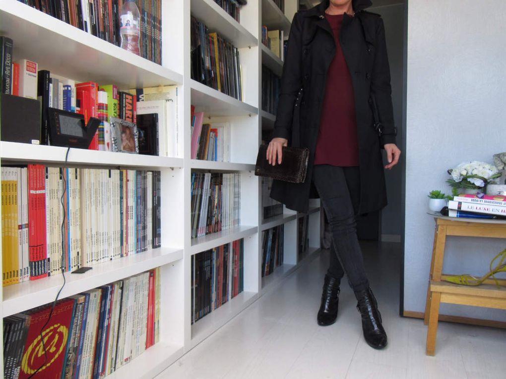 Finalement, cette robe à tout d'un top à basque. Et je la porte au bureau, sous cette forme, sans créer d'émeute (perso, le très court pour aller bosser, à part quand on a 20 ans - et encore - très peu pour moi)