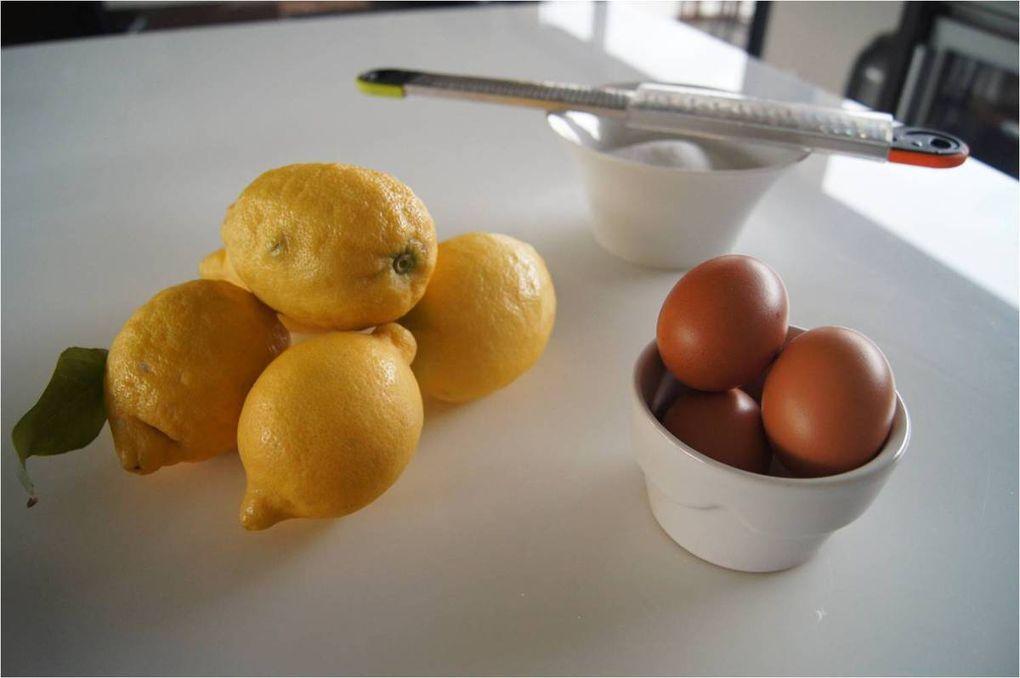 Lemon curd - crème au citron, et petits palets sablés