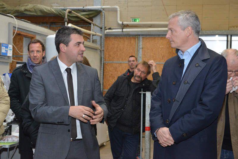 Bruno Le Maire en visite en Savoie