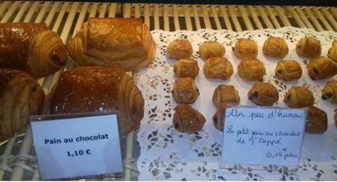 Touuusss les matins il achetait, son p'tit pain au chocolat...