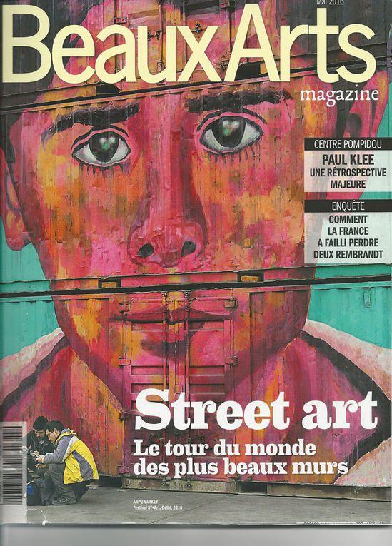 Beaux Arts magazine, mai 2016