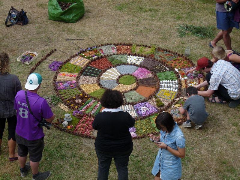 Atelier Mandalas encadré par Marc Pouyet et Maïté Milliéroux.                     Manifestation organisée par la maison de la vallée et du parc national  des Pyrénées de Luz St Sauveur .