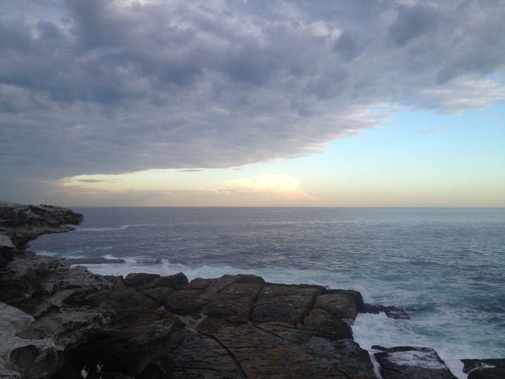 Bondi beach au coucher de soleil, vendredi soir...