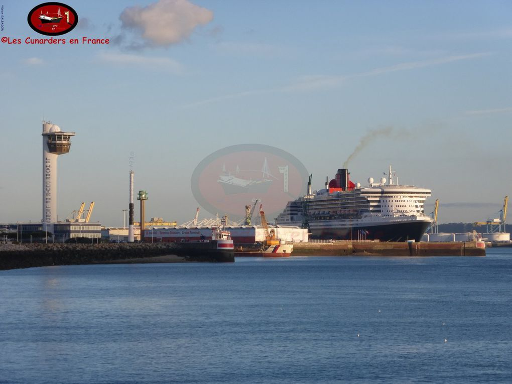 Escale du Queen Mary 2 au Havre le 02/11/16.