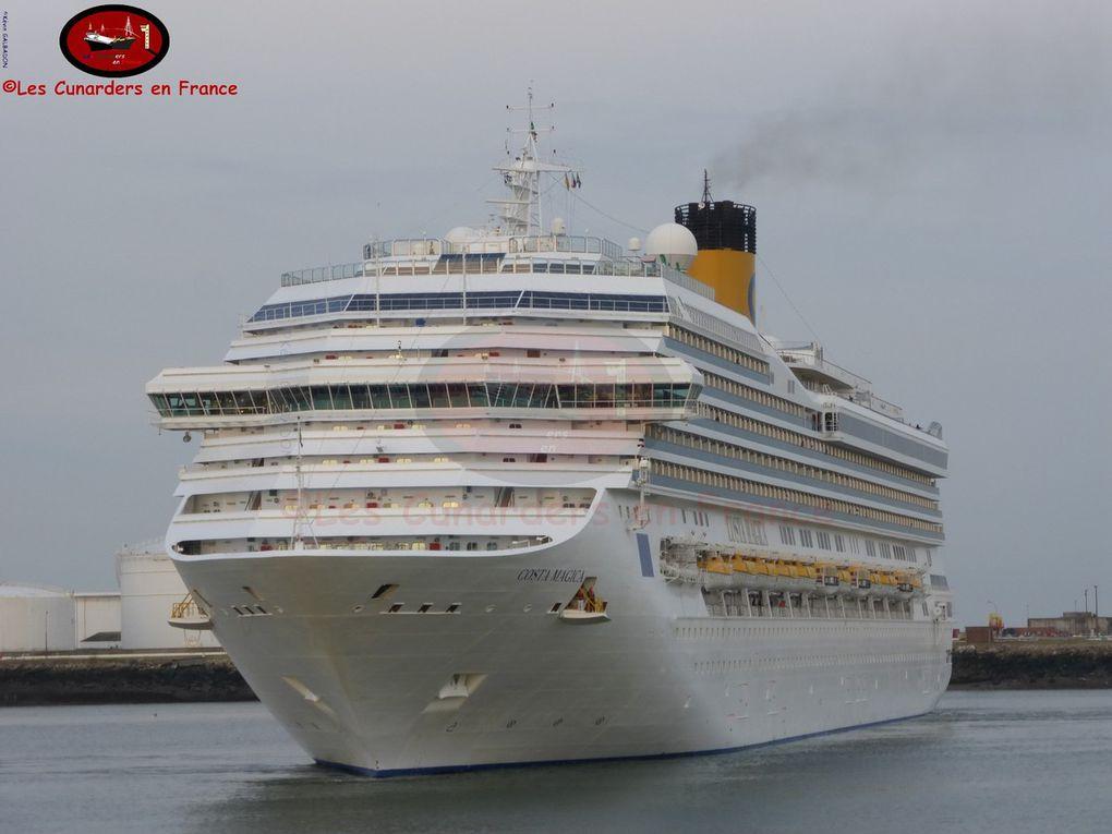 Escale des Independence of the Seas, Costa Magica et Costa Mediterranea au Havre le 28/05/17.