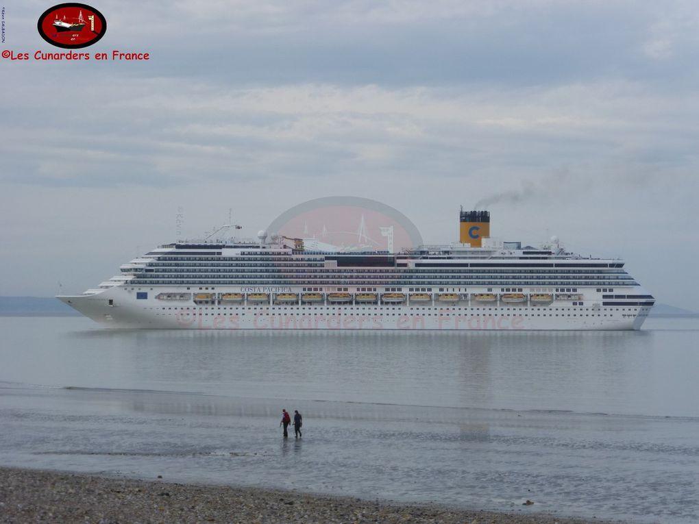 Arrivée inaugurale du Monarch et Costa Pacifica au Havre le 29/05/17.
