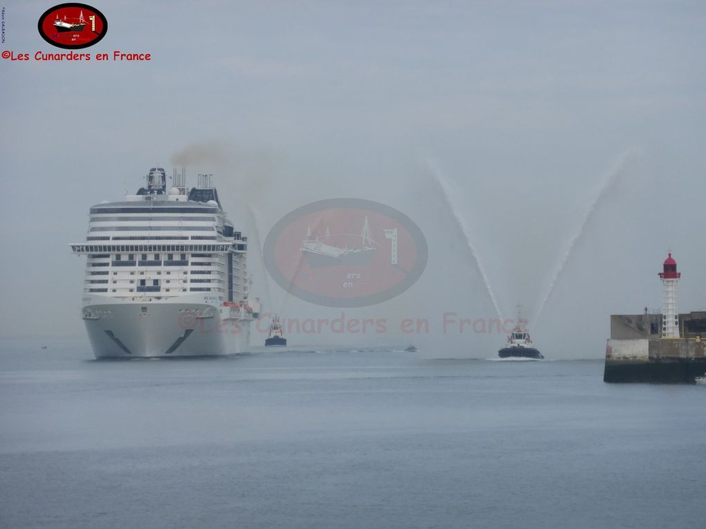Escale inaugurale, visite et baptême du MSC Meraviglia au Havre du 02 au 04/06/17.