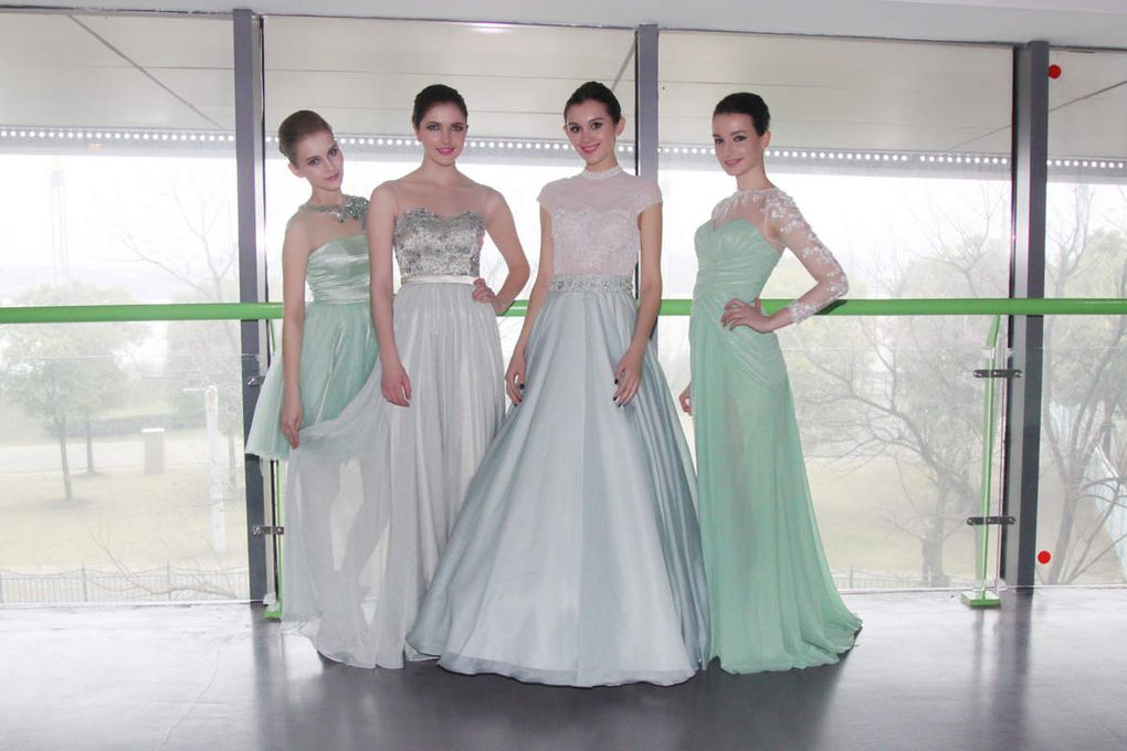 Fashion With Love Green Dresses for International Fashion Culture Festival