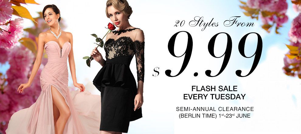 Flash Sale Every Tuesday - 20 Styles Dresses From $9.99