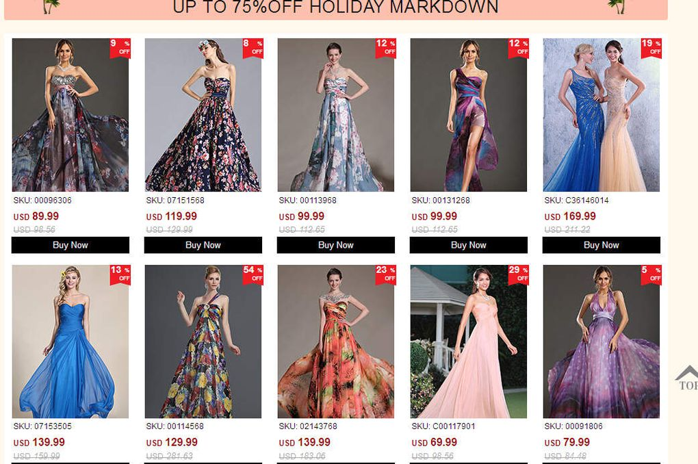 Up to 75% Holiday Markdown - Have You Prepared Well