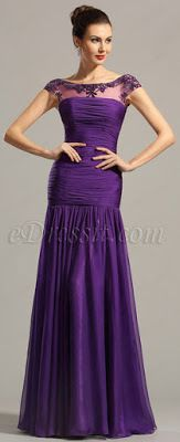 Formal Party Dresses with Cap Sleeves