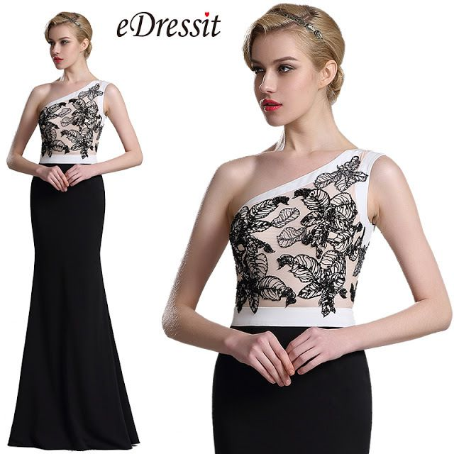 Trendy One Shoulder Evening Gown