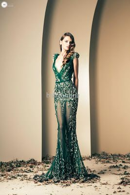 Green Evening Dress - Natural and Sexy