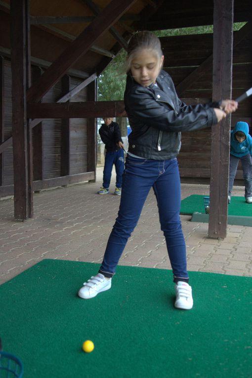 Première séance de golf.. sous la pluie !