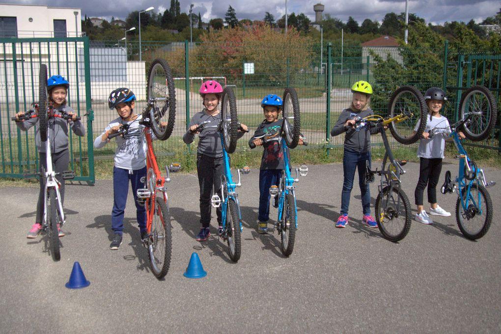 Notre première séance de vélo...