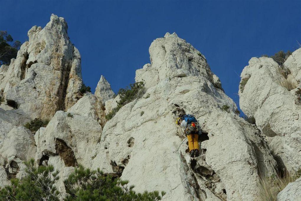 au menu de la grimpe de proximité en 2016 du calcaire, de l'aragonite, du chips... et du marbre !