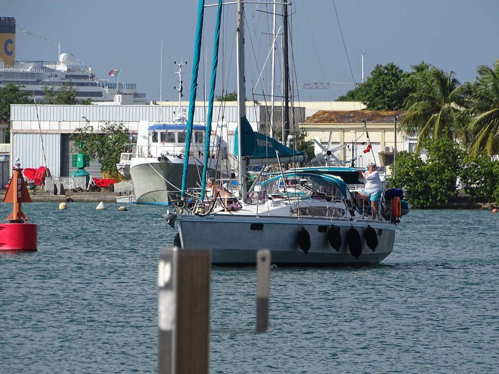 Arrivée à la marina Bas du Fort à Pointe à Pitre.