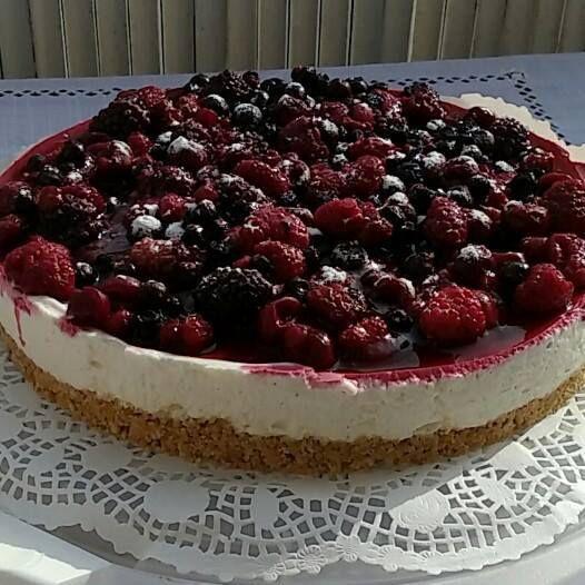 Cheesecake vanille et fruits rouges (sans cuisson)