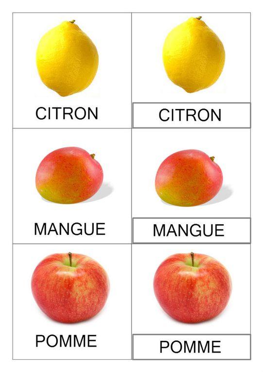 Cartes de nomenclatures a imprimer #montessori