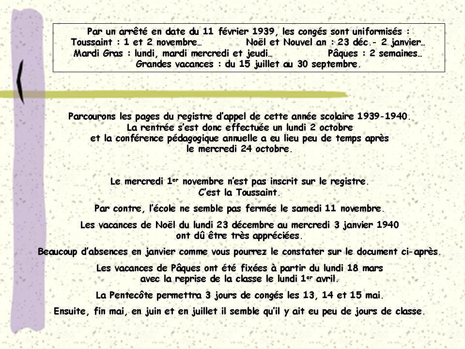 A l'école de St Michel-de-la-Forêt... 2ème partie.