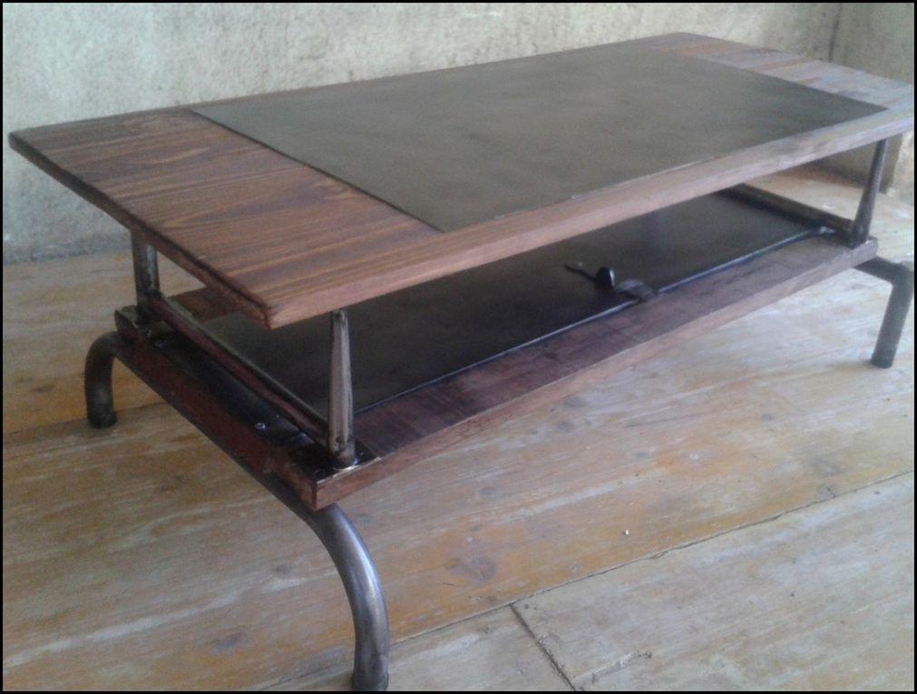 table basse industrielle le blog de la salamandre bleue et de combustible23. Black Bedroom Furniture Sets. Home Design Ideas
