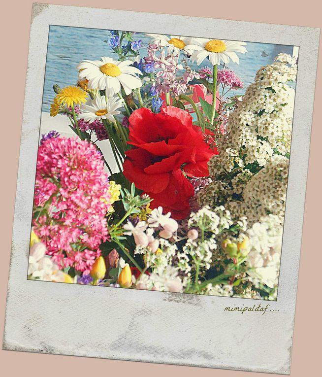 bouquet champêtre sur la table
