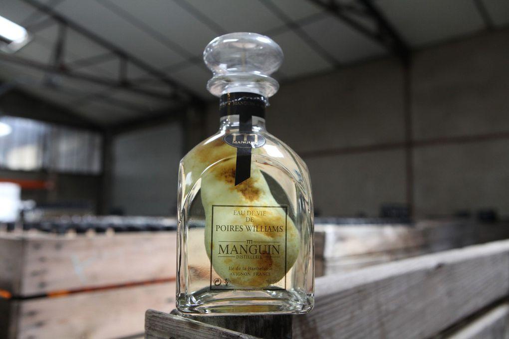 Une distillerie, sur une île, face au Palais des Papes d'Avignon