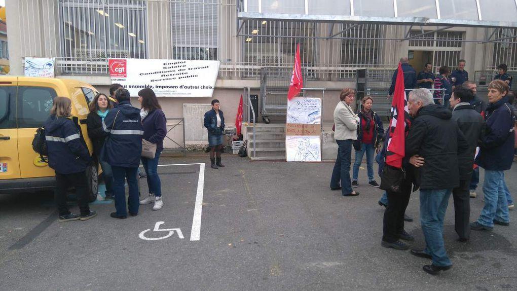 Préparation du piquet de grève, rassemblement et prise de parole