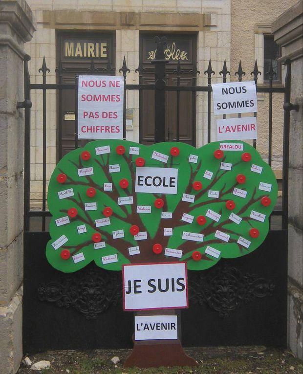 la mobilisation pour les écoles en images à Gréalou (46)