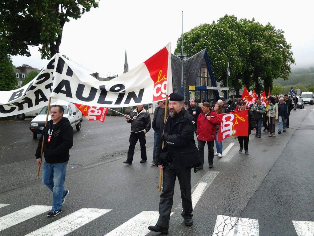 Mobilisation pour le 1er Mai à Chateaulin