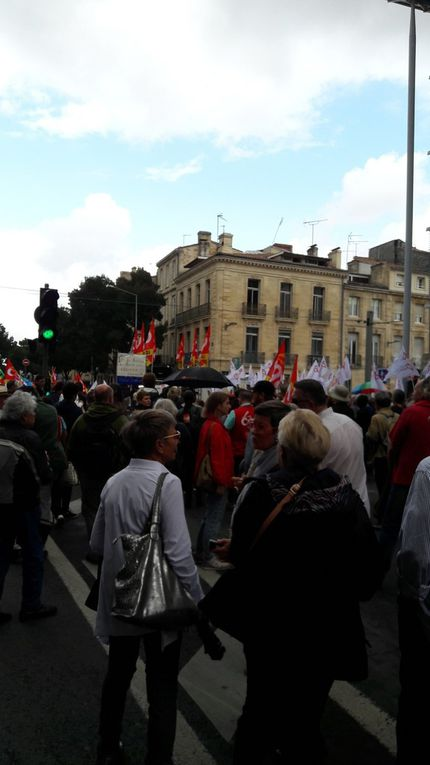 Grosse manif à Bordeaux.