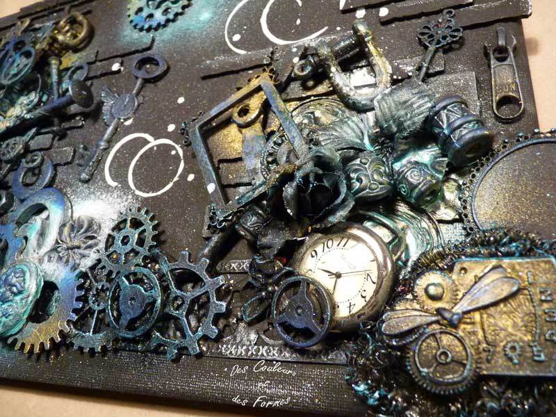 Atelier scrap adultes tableau bric à brac