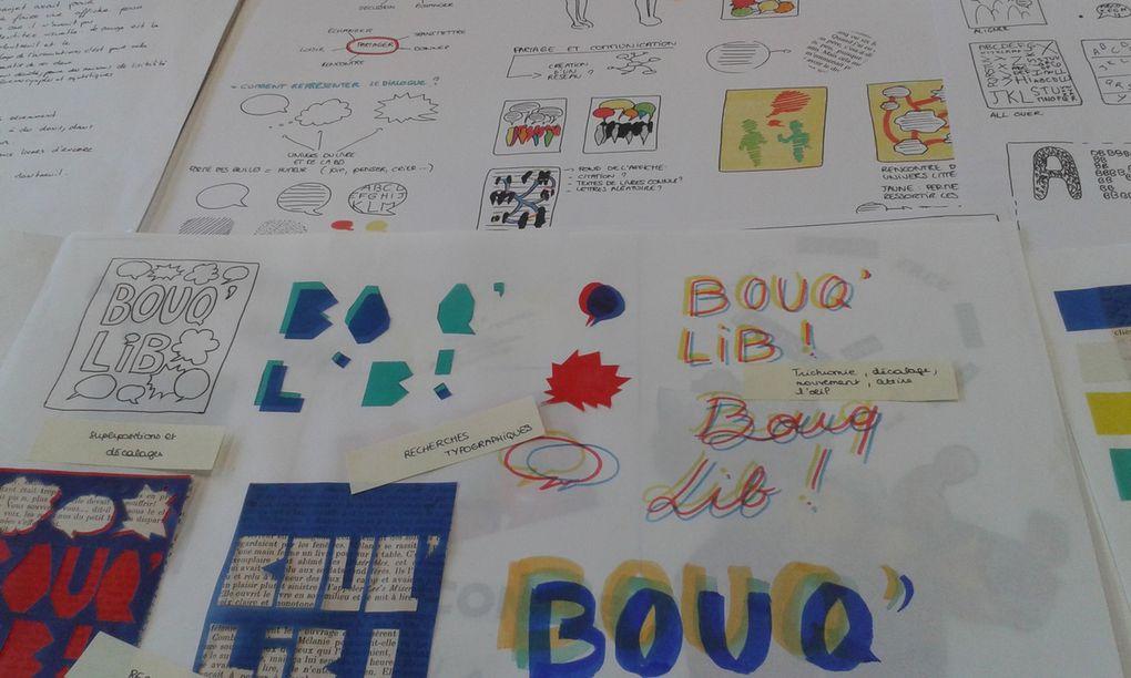 projets d'affiches Bouq'Lib'